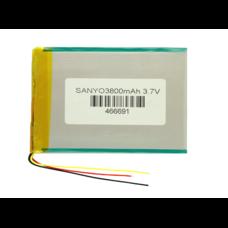 Аккумулятор 3.7 вольт 3800 mAh Sanyo 3 провода